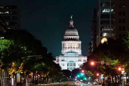Texas State Capitol Building at night